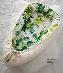 Textil - Hniezdo pre bábätko z vafle bavlny - 10133113_