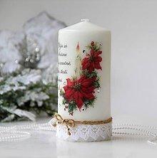 Svietidlá a sviečky - Vianočná dekoračná sviečka - 10136264_
