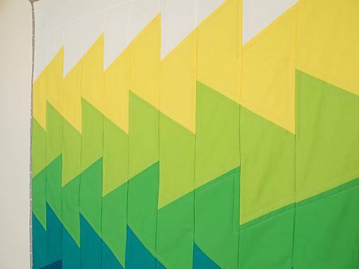 Moderná patchwork deka Vlny