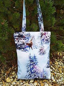 Veľké tašky - MAXI taška zima v lese:-) - 10133929_