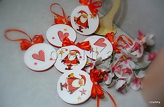 Dekorácie - vianočné medailónky Mikuláš - 10134103_