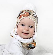 Detské čiapky - Originálny setík - 10136976_