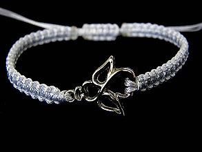 Náramky - anjel & ornament - shamballa biela - 10133057_