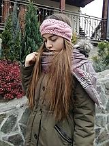 Ozdoby do vlasov - Steroružová čelenka - 10134884_