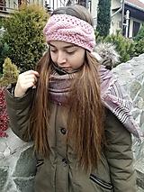 Ozdoby do vlasov - Steroružová čelenka - 10134894_