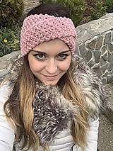 Ozdoby do vlasov - prekrížená čelenka- staroružová - 10134995_