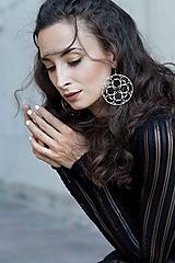 Náušnice - Náušnice Ornament - 5cm -chir. oceľ/ pozlátené - 10132655_