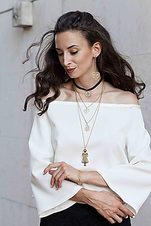 Náhrdelníky - Trojradový náhrdelník MARÍNA - 10132672_