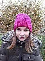 Čiapky - Háčkovaná čiapka, homeleska, pre ženu/dievča - 10135229_