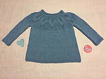 Detské oblečenie - Dievčenský pulóver - tunika - 10135953_