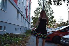 Šaty - Nežné spoločenské šaty ručne maľované - 10133444_