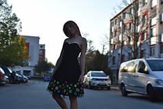 Šaty - Nežné spoločenské šaty ručne maľované - 10133447_