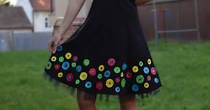 Šaty - Nežné spoločenské šaty ručne maľované - 10133449_
