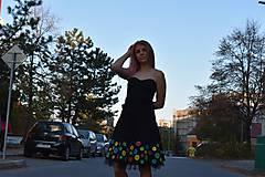 Šaty - Nežné spoločenské šaty ručne maľované - 10133457_
