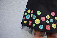 Šaty - Nežné spoločenské šaty ručne maľované - 10133458_