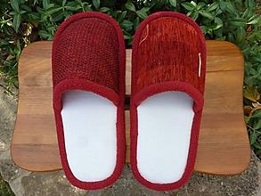 Obuv - Bordové papuče - 10136188_
