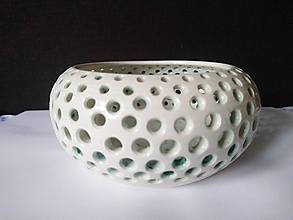 Svietidlá a sviečky - keramicky svietnik - 10133572_