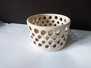 Svietidlá a sviečky - keramicky svietnik - 10133725_