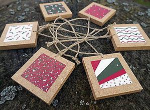 Dekorácie - Maľované vianočné ozdoby COLIS - 10134203_