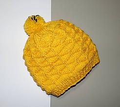 Detské čiapky - Čiapka pletená - 10134800_