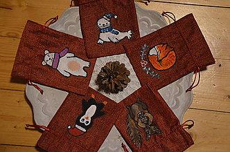 Nezaradené - Vianočné vrecko s obrázkom - 10134996_
