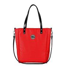 Kabelky - Velká kabelka MANA MANA Minimalistická Červená/Černá kůže - 10133103_