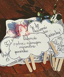 Darčeky pre svadobčanov - Prudko úprimná rekvizita do svadobného fotokútiku - 10135879_