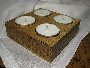 Svietidlá a sviečky - svietnik Quatro - 10132945_