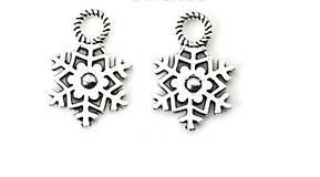 Komponenty - Prívesok snehová vločka - 10134152_