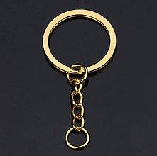Komponenty - Kľúčenka na dotvorenie zlatá farba - 10133549_
