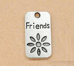 Komponenty - Prívesok s nápisom FRIENDS - 10134243_