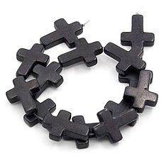Korálky - Keramická korálka krížik - 10134408_