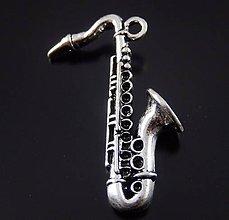 Komponenty - Prívesok veľký saxofón - 10134418_