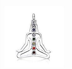 Komponenty - Prívesok jóga so štrasovými kamienkami - 10134459_