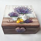 Krabičky - Krabička s priečinkami - Levanduľa v nádobách - 10134465_