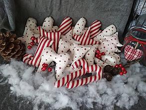 Dekorácie - Bordové vianočné ozdoby - 10133814_