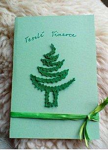 Papiernictvo - vianočná pohľadnica paličkovaná z - 10133162_