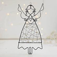 Dekorácie - anjelik s perličkami - 10140514_