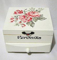 Krabičky - Šperkovnica Shirley s venovaním - 10141553_