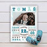 Grafika - Plagát s údajmi o novorodencovi - 10141767_
