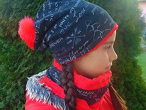 Detské čiapky - Zimný setík pre slečnu - 10142110_