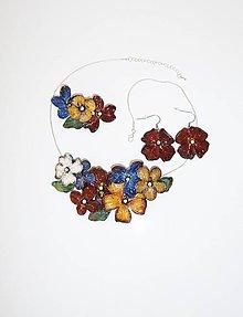 Sady šperkov - náhrdelník a náušnice set- vintage flowers 44 - 10142046_