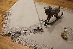 Úžitkový textil - ľanová elegancia śtóla - 10141843_