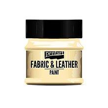 Farby-laky - Farba na textil a kožu, 50 ml, Pentart (škrupinkovo biela) - 10139195_