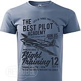 Oblečenie - Pánske tričko Pilot Academy modré - 10139565_
