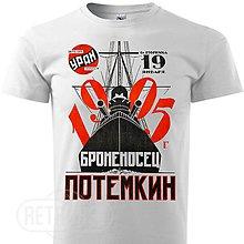 Oblečenie - Pánske tričko krížnik Potemkin - 10139095_