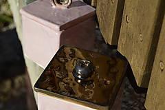 Nádoby - Dóza kocka ružová i zlatá :o)). - 10139973_