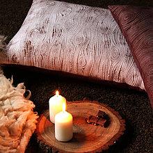 Úžitkový textil - Polštář s kresbou dřeva - 10139446_