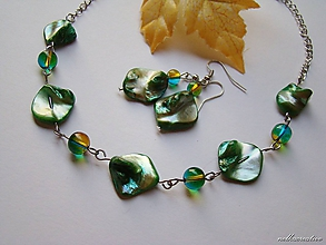 Sady šperkov - S chuťou zelenej hrušky .. /farbená perleť/ - 10139795_