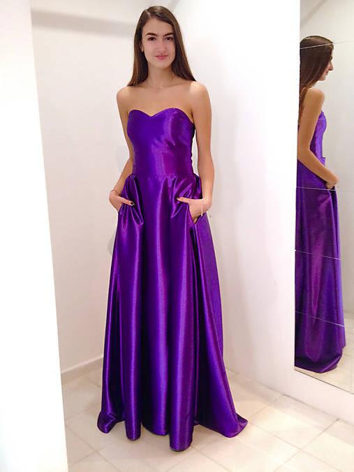 16ab917e16ce Spoločenské šaty FIALOVÉ   LuxuryCouture - SAShE.sk - Handmade Šaty